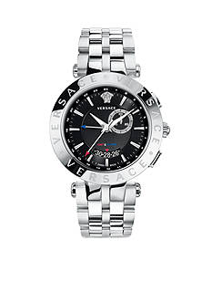 Versace Men's V-Race GMT Stainless Steel Watch