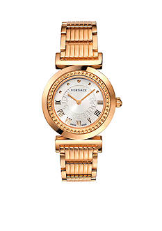 Versace Women's Vanity Rose Gold-Tone Watch