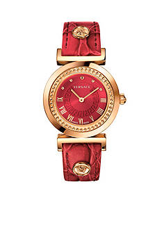 Versace Women's Vanity Red Watch