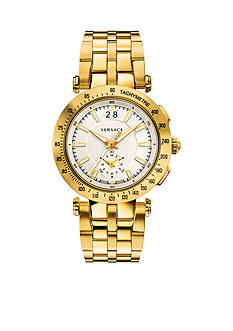 Versace Men's V-Race Gold-Tone Watch