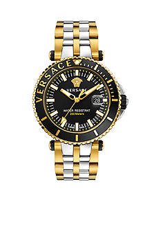 Versace Swiss V-Race Diver Two-Tone Stainless Steel Bracelet Watch