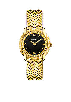 Versace DV-25 Round Black and Gold Bracelet Watch