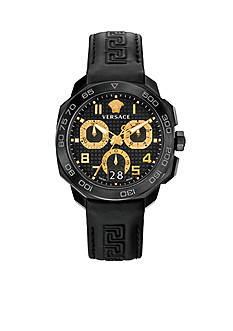 Versace Men's Dylos Black Chronograph Watch