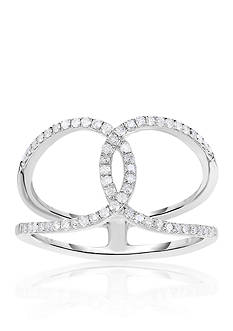 Belk & Co. Diamond Overlapping Ring in Sterling Silver