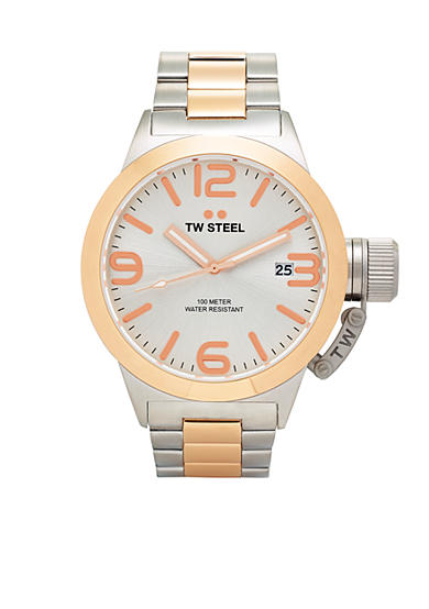 TW Steel Men's Two-Tone Silver Dial Watch