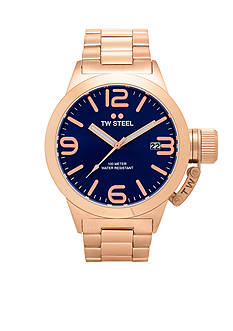 TW Steel Men's Rose Gold Blue Dial Watch