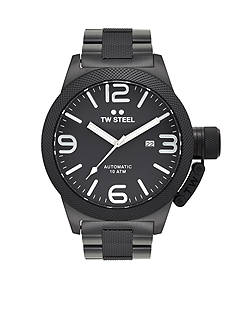TW Steel Men's Big Case Black Plated Watch