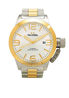 TW Steel Men's Big Case Two-Tone Watch