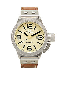 TW Steel Men's Automatic Beige Strap Watch