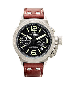 TW Steel Men's Chronograph Brown Strap Watch