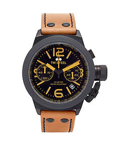 TW Steel Men's Chronograph Tan Strap Watch