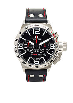 TW Steel Men's Chronograph Black Strap Watch