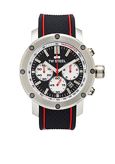 TW Steel Men's Chronograph Black Silicone Watch