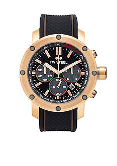 TW Steel Men's Chronograph Black Silicon Watch