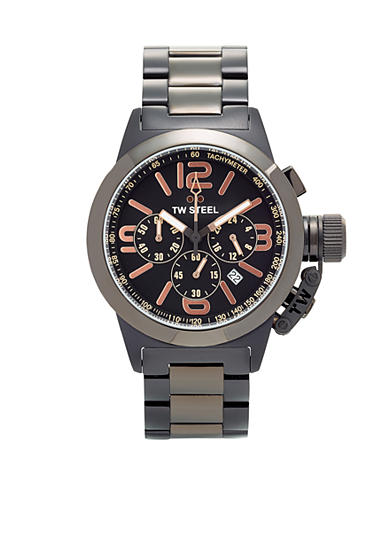 TW Steel Women's Black Chronograph Dial Watch