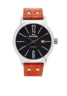 TW Steel Men's Slim Auto Black Dial Watch