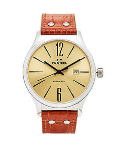 TW Steel Men's Slim Auto Silver Dial Watch