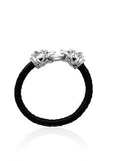 Effy® Diamond Panther Bracelet in Sterling Silver