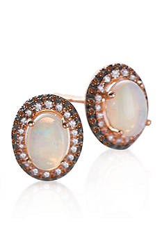 Effy Opal & Diamond Earrings in 14K Rose Gold