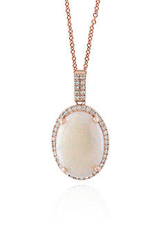Effy Opal and Diamond Pendant in 14k Rose Gold