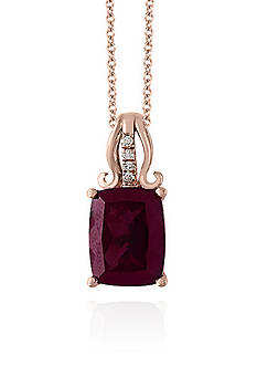 Effy® Rhodolite and Diamond Pendant in 14k Rose Gold