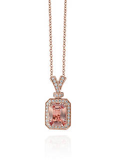 Effy® Morganite & Diamond Pendant in 14K Rose Gold