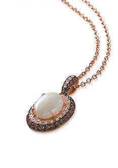 Effy Opal & Diamond Pendant Necklace in 14K Rose Gold