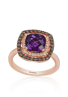 Effy Amethyst and Diamond Ring in 14K Rose Gold
