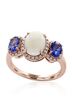 Effy Opal, Tanzanite, and Diamond Ring in 14k Rose Gold