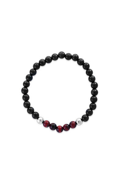 Effy® Blue and Red Tiger Eye and Meteorite Beads Stretch Bracelet
