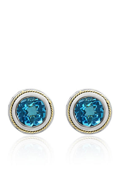 Effy® Topaz Earrings in Sterling Silver and 18K Yellow Gold