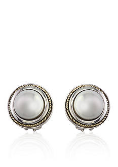 Effy Freshwater Pearl Stud Earrings in Sterling Silver
