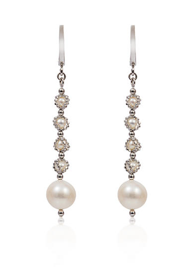 Effy® Round Freshwater Pearl Drop Earrings in Sterling Silver