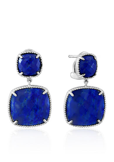 Effy® Square Lapis Earrings in Sterling Silver