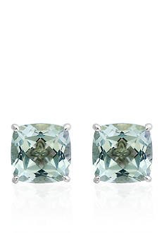 Effy Green Amethyst Stud Earrings in Sterling Silver