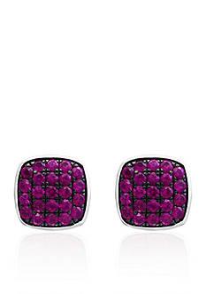Effy Ruby Stud Earrings in Sterling Silver
