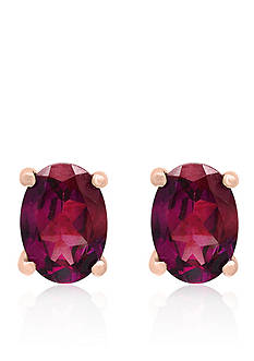 Effy Oval Rhodolite Studs in 14k Rose Gold