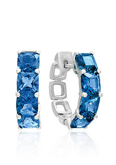 Effy London Blue Topaz Hoop Earrings in 14k White Gold