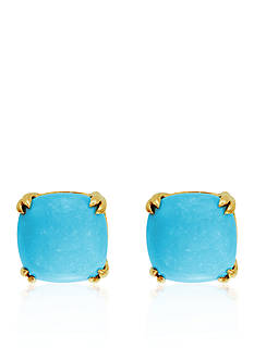 Effy Turquoise Cushion Stud Earrings in 14K Yellow Gold