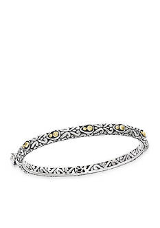 Effy® Sterling Silver with 18k Yellow Gold Dot Bangle Bracelet