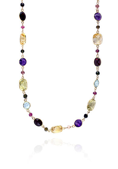 Effy® Multi Colored Necklace in 14k Yellow Gold
