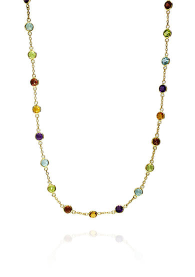 Effy® Multi Colored Chain Necklace in 14k Yellow Gold