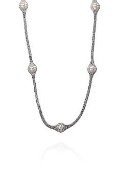 Effy Round Freshwater Pearl Long Necklace in Sterling Silver