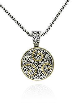 Effy Swirl Pendant in Sterling Silver & 18K Yellow Gold