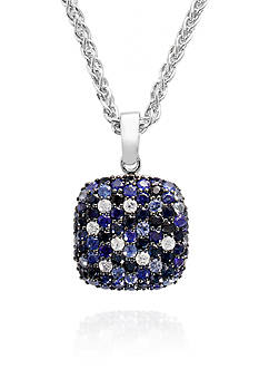 Effy® Sapphire Pendant Necklace in Sterling Silver