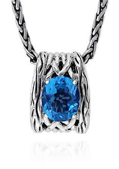 Effy Topaz Pendant Necklace in Sterling Silver
