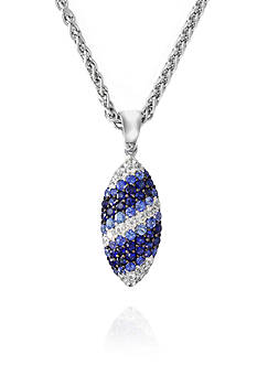 Effy Sapphire Pendant Necklace in Sterling Silver
