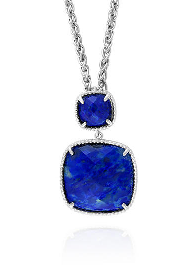 Effy® Square Lapis Necklace in Sterling Silver