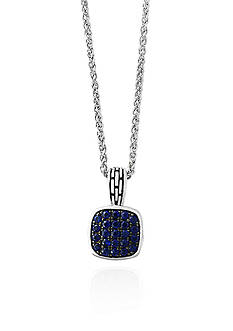 Effy Sapphire Pave Pendant in Sterling Silver