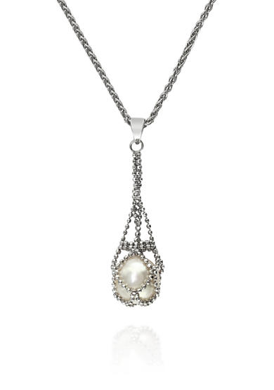 Effy® Round Freshwater Pearl Necklace in Sterling Silver